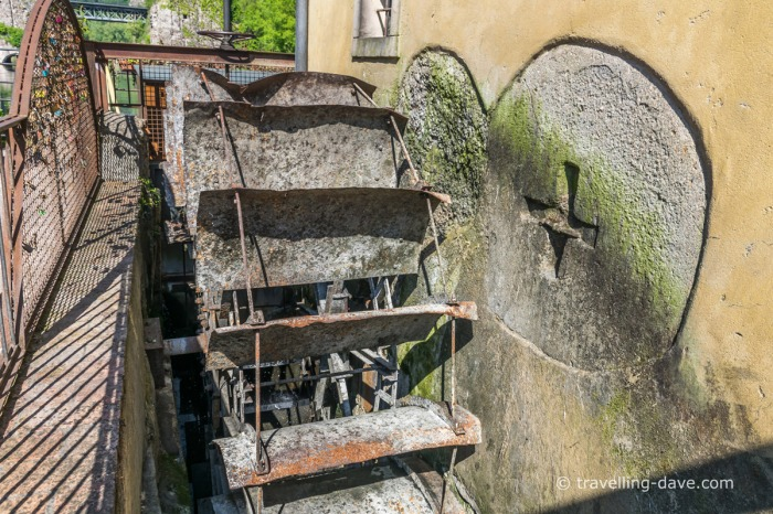 Wheel of one of Borghetto sul Mincio mills
