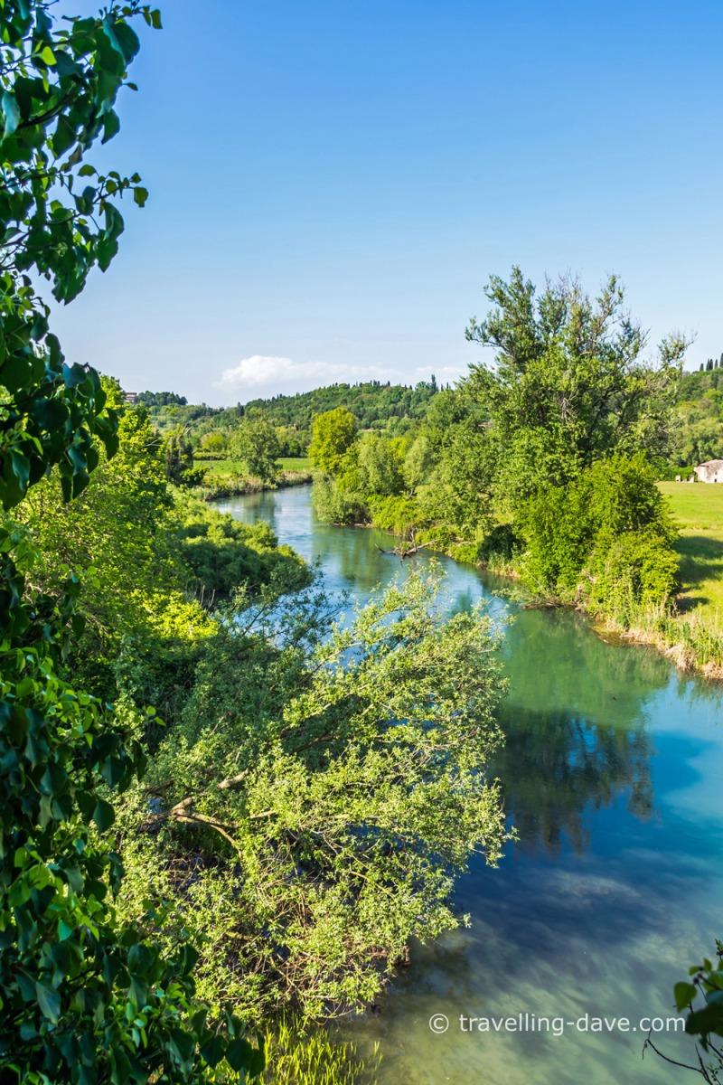 View of the river Mincio in Italy