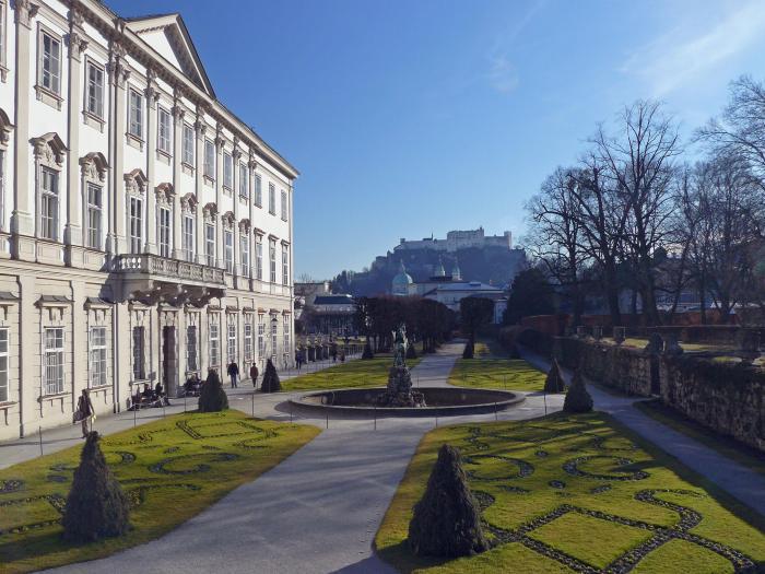View of Salzburg Mirabelle Gardens