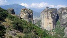 View of some of Meteora monasteries