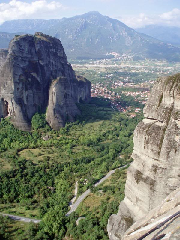 The landscape around Meteora in Greece
