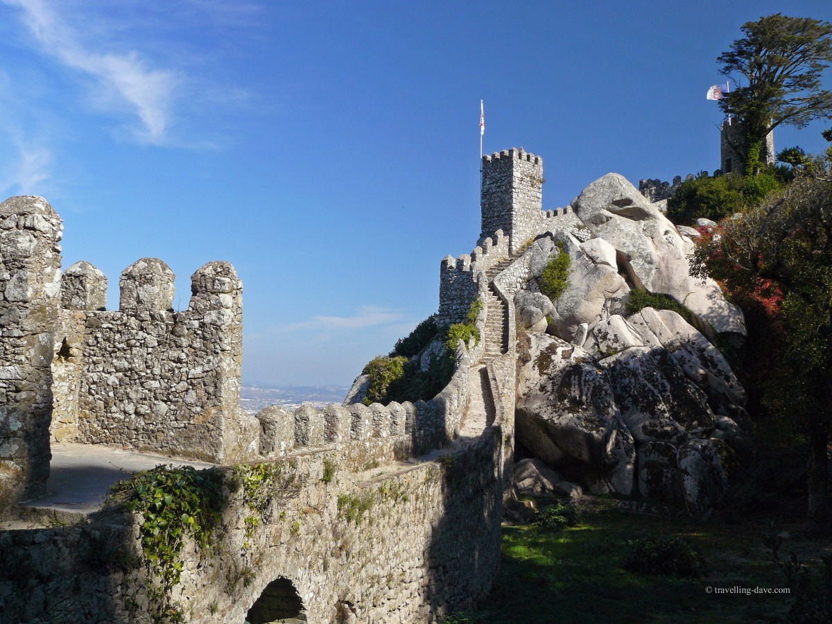 Climbing to the top of the Moorish Castle in Sintra