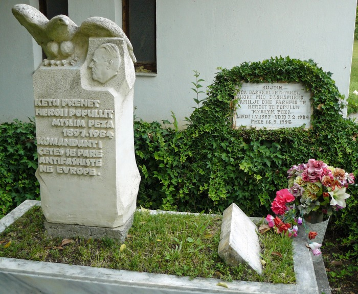The grave of Myslym Peza in Albania