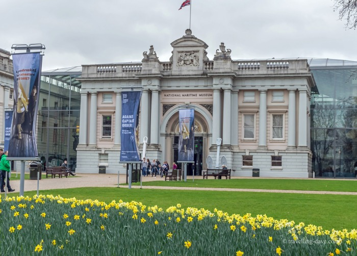 The entrance to Greenwich National Maritime Museum