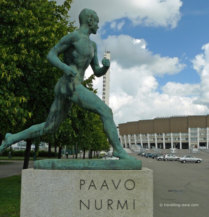 View of the statue to Paavo Nurmi