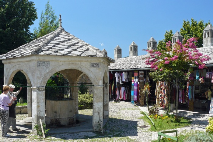 View of the Old Bazaar in Mostar