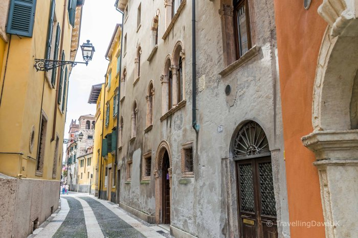 View of one of Verona's narrow streets
