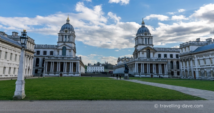 View of the Old Royal Naval College in London