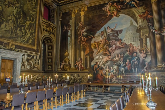 Inside the magnificent Painted Hall in London