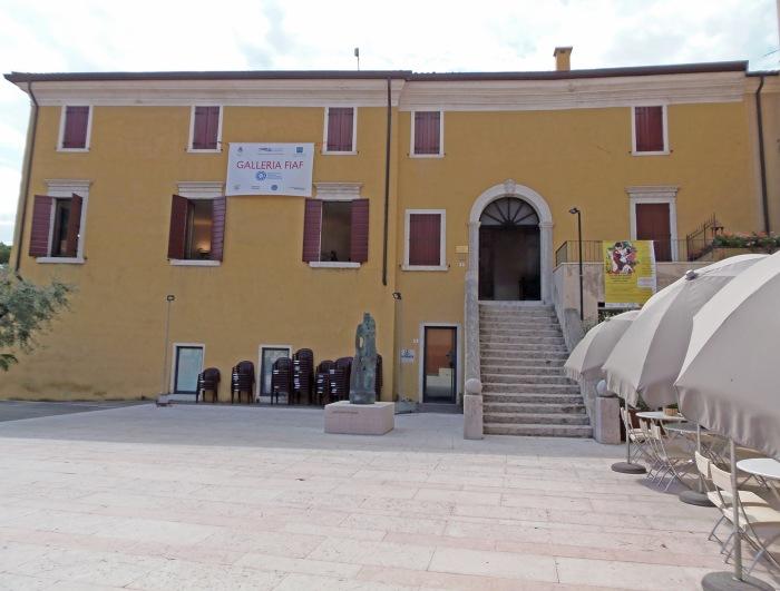 View of Garda's Palazzo Pincini Carlotti in Italy