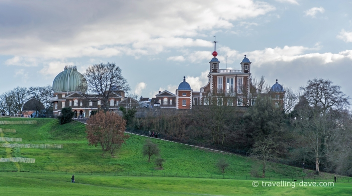 Panoramic view of the Royal Observatory in Greenwich