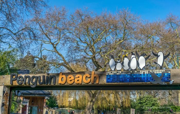 Entrance to London Zoo penguins enclosure