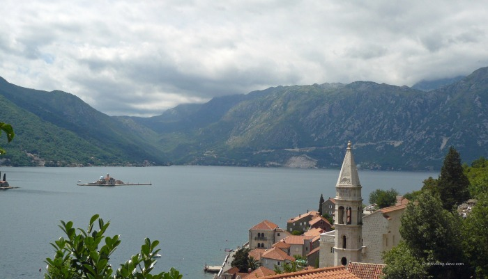 View from the village of Perast in Montenegro