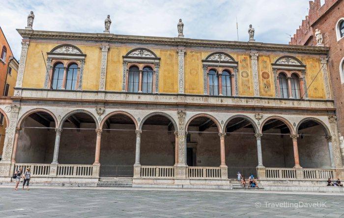 The loggia in Piazza Dante in Verona