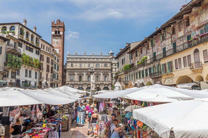 View of Piazza Erbe in Verona