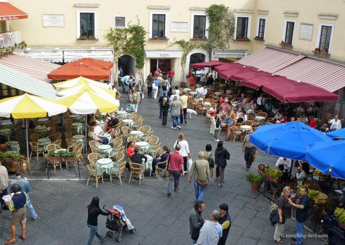 View of Capri's famous Piazzetta