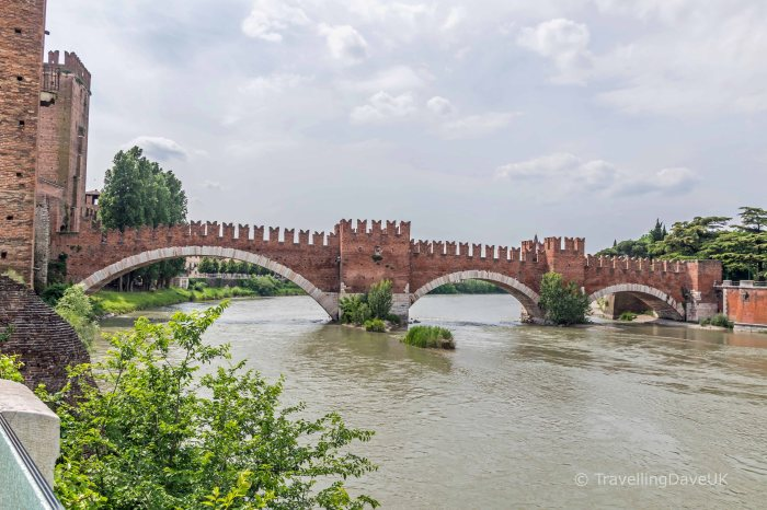 View of Ponte Castelvecchio in Verona