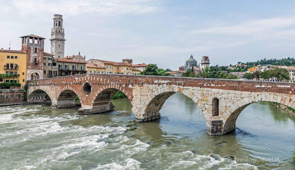 View of Ponte Pietra in Verona