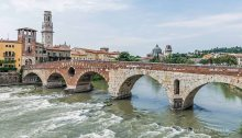 View of Ponte Pietra in Verona