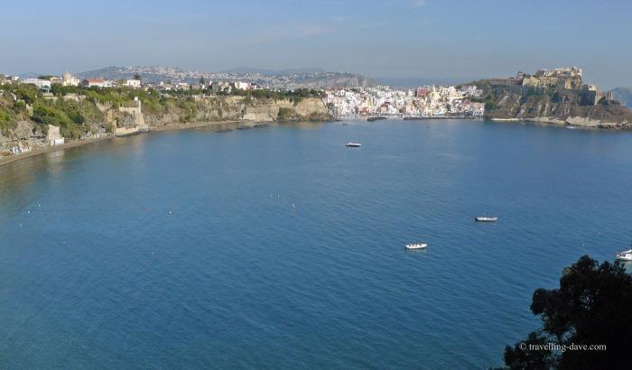 Panoramic view of Procida