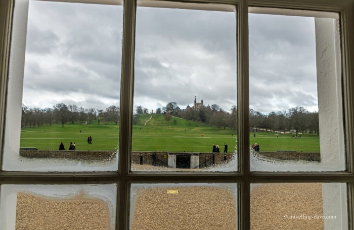 Looking out of the window at the Queen's House in Greenwich