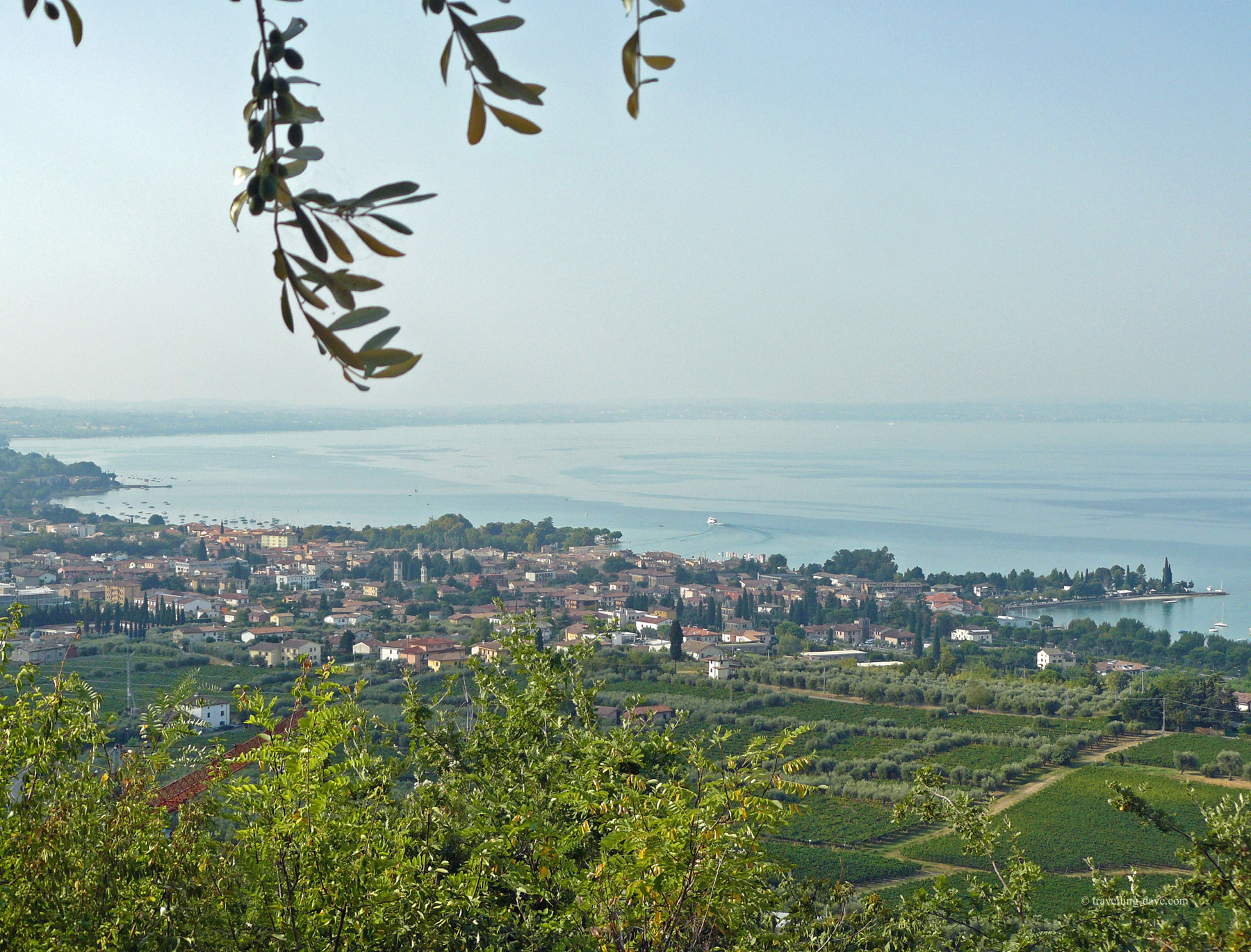 Villages on Lake Garda seen from the top of the Rock