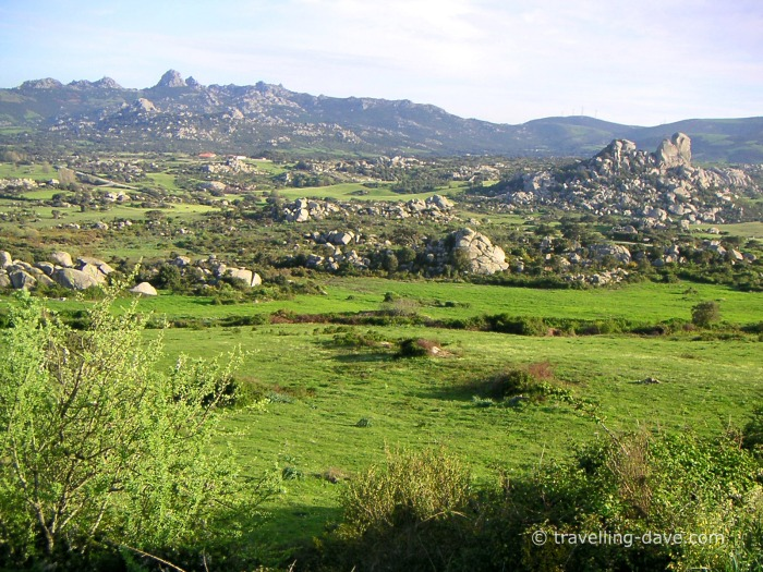 Countryside and rocks in Sardinia