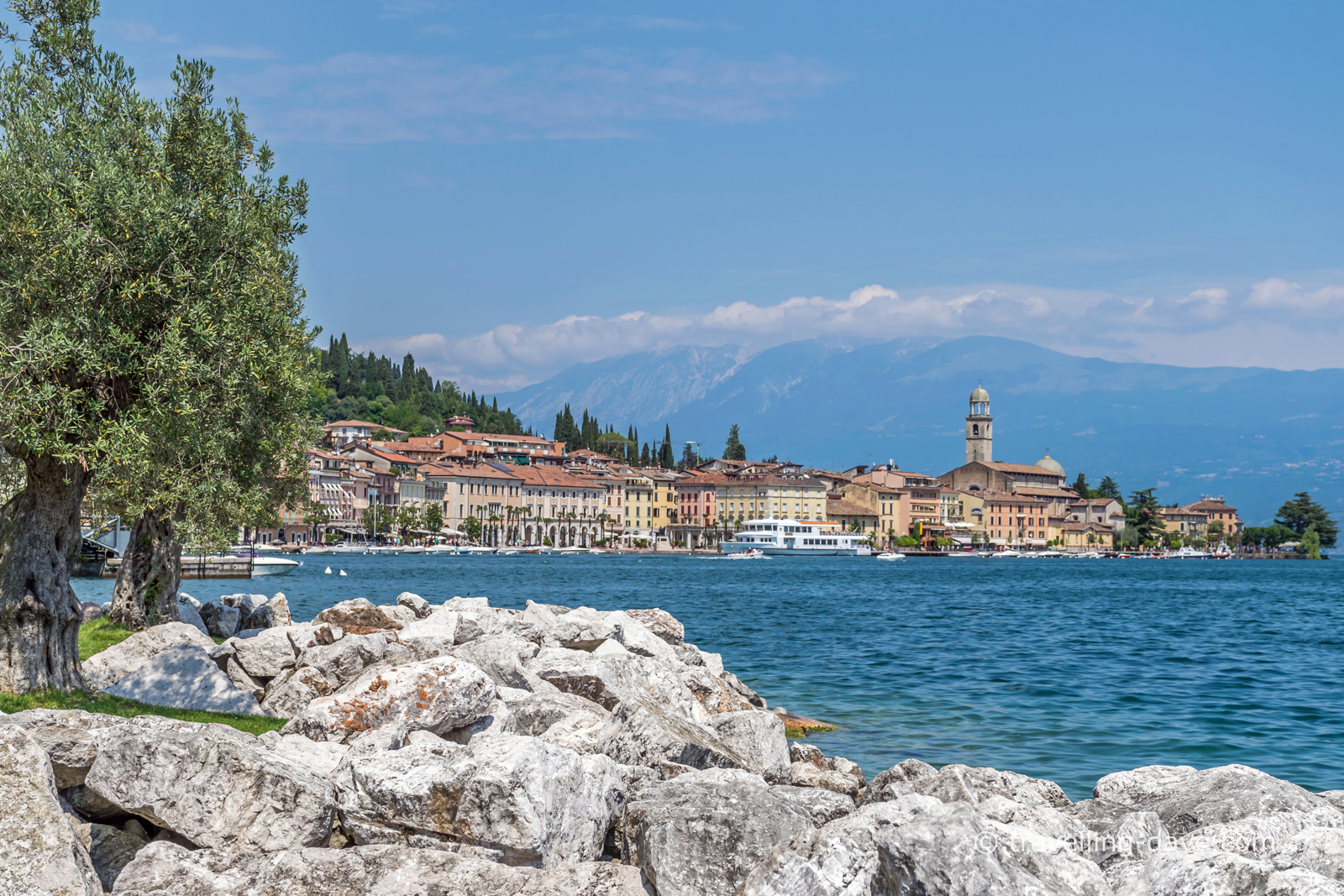Panoramic view of Salo' in Italy