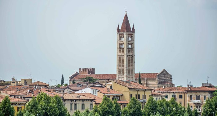 View of San Zeno church in Verona