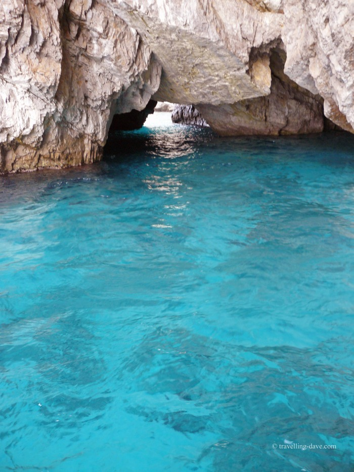 A sea cave in the Mediterranean