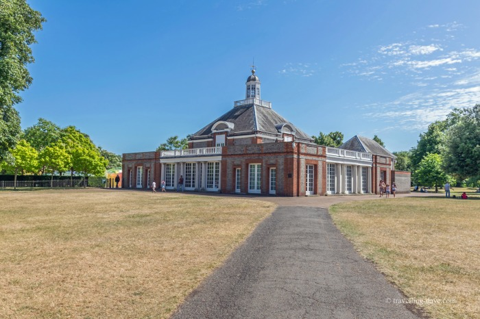 View of the Serpentine Gallery in London