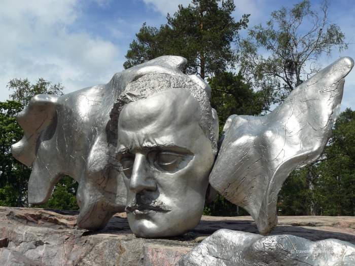 View of Sibelius bust in Helsinki