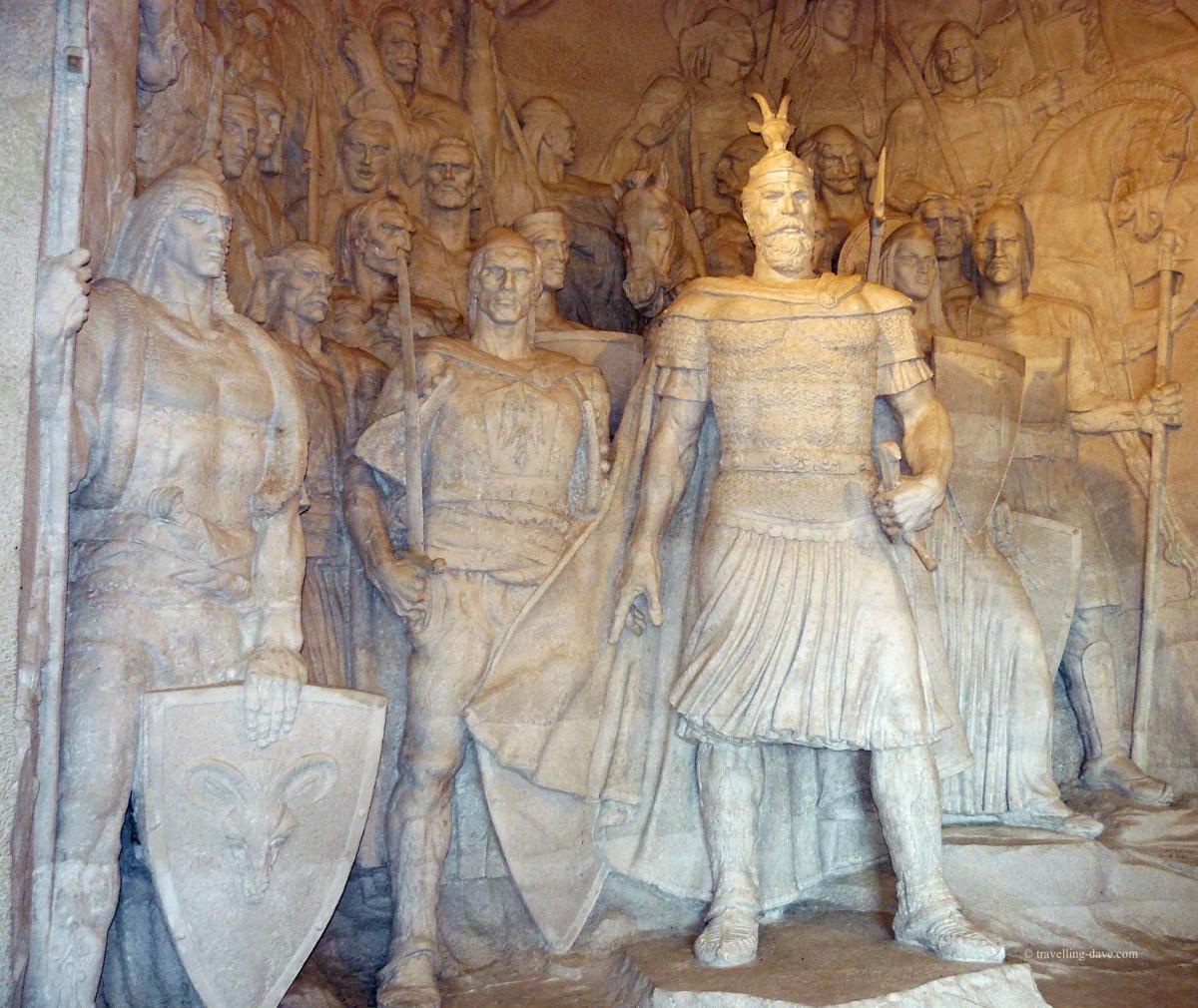 Inside the Skanderbeg Museum in Kruje, Albania