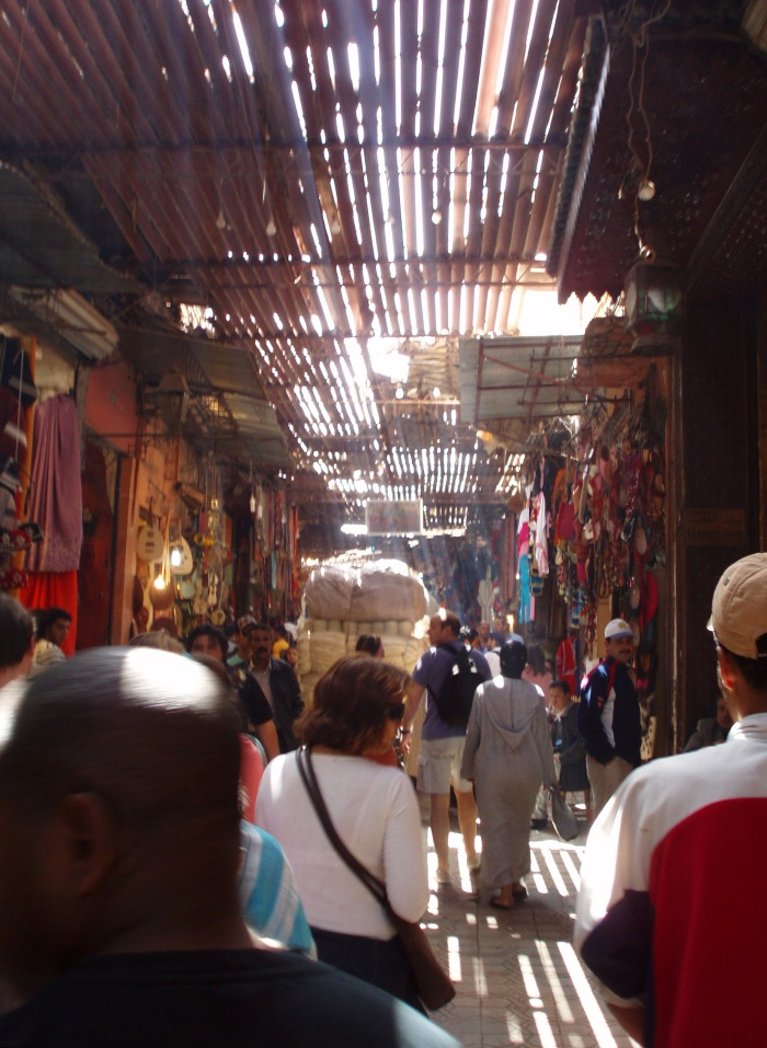People in the souk in Marrakech