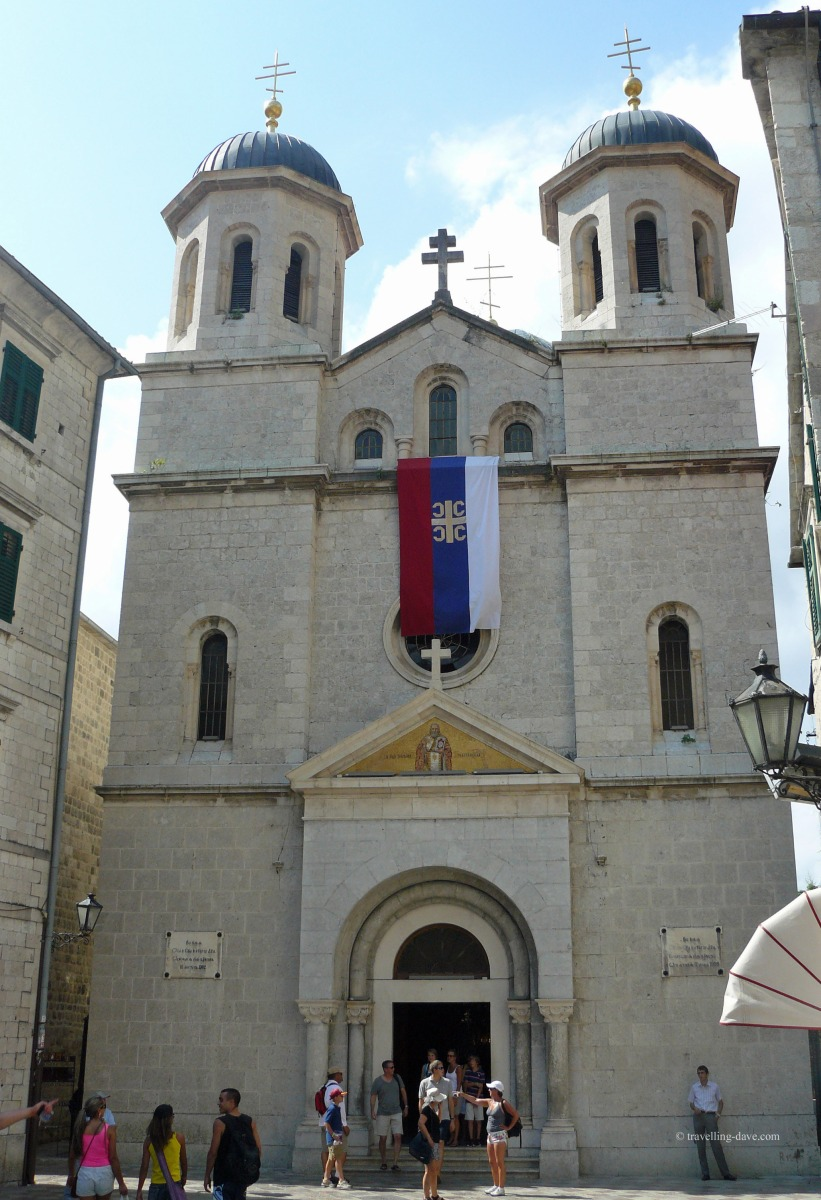 View of Kotor's St.Nicholas church