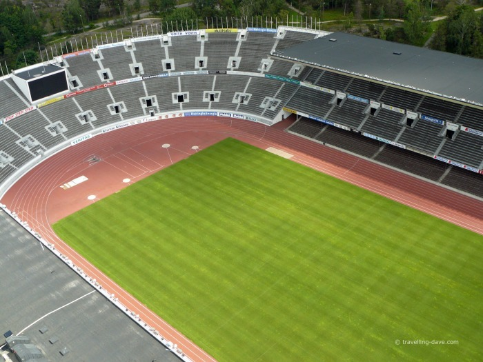 Looking into Helsinki Olympic Stadium