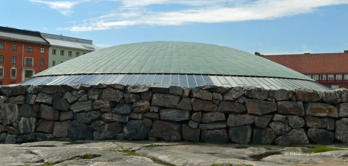 View of the dome of Temppeliaukio Church