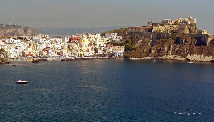 The sea at Terra Murata on the island of Procida