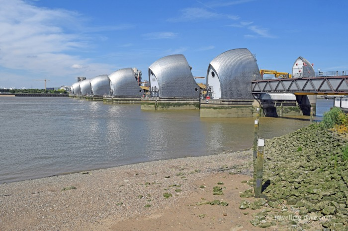 View of the Thames Barrier in London