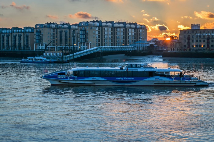 The Thames Clipper on the river in London