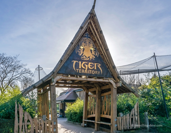 Entrance to London Zoo tigers enclosure
