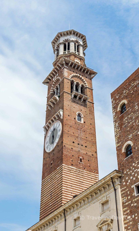 View of Torre dei Lamberti in Verona