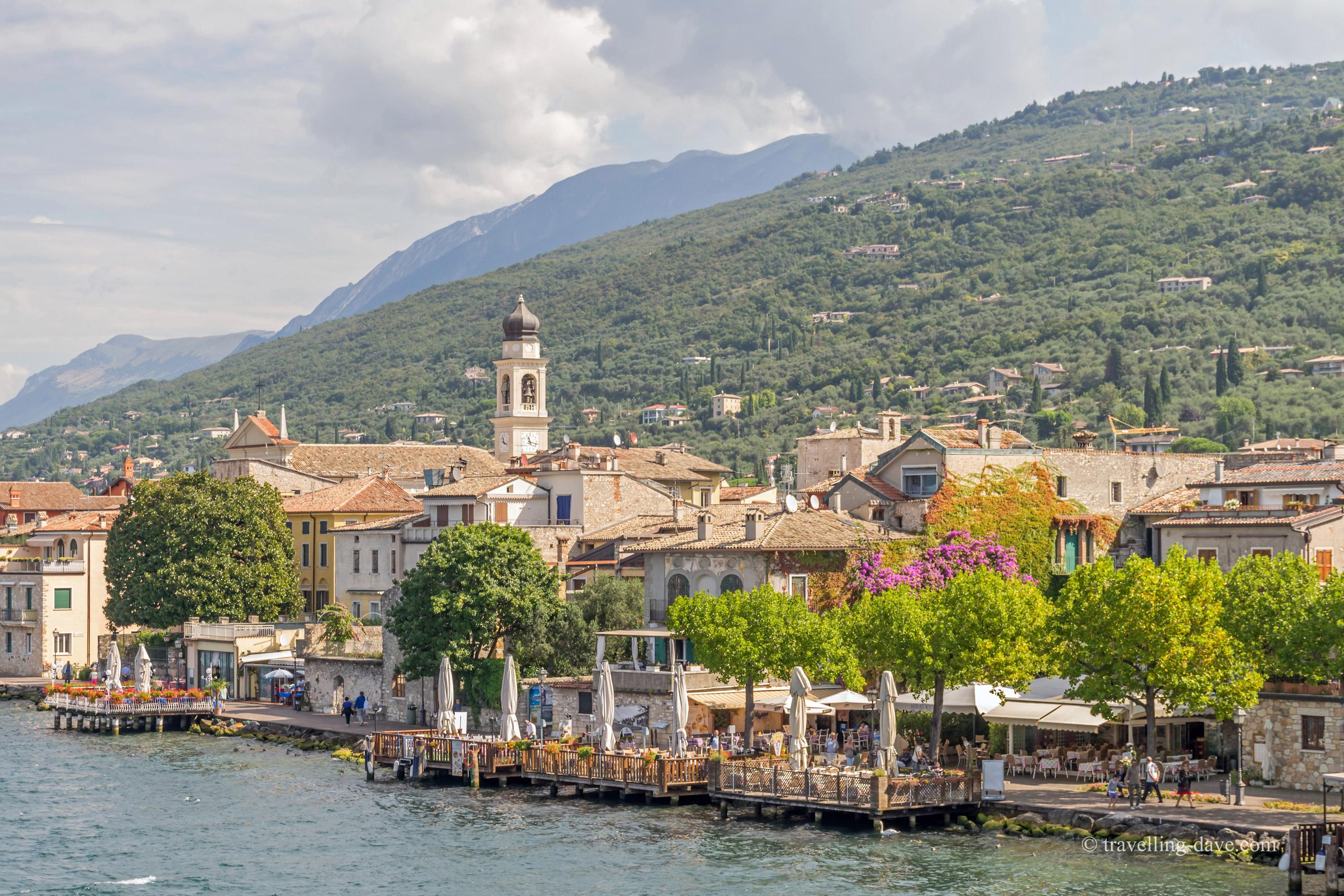 Panoramic view of the village of Torri del Benaco in Italy