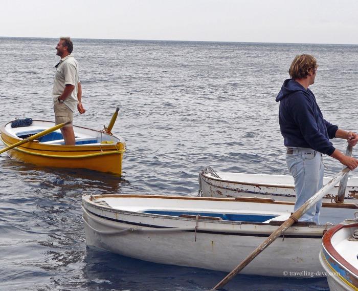 Capri's Blue Grotto tourist boats