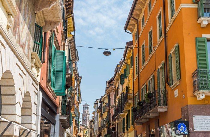 View of Via Mazzini in Verona