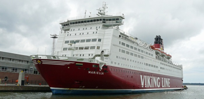 View of one of Viking Line ships