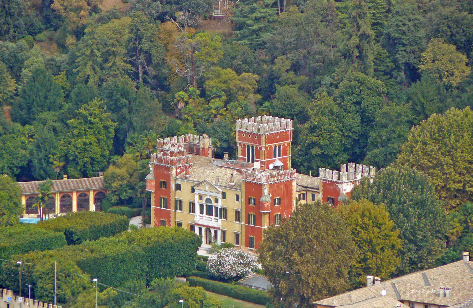 View of Villa Albertini in Garda