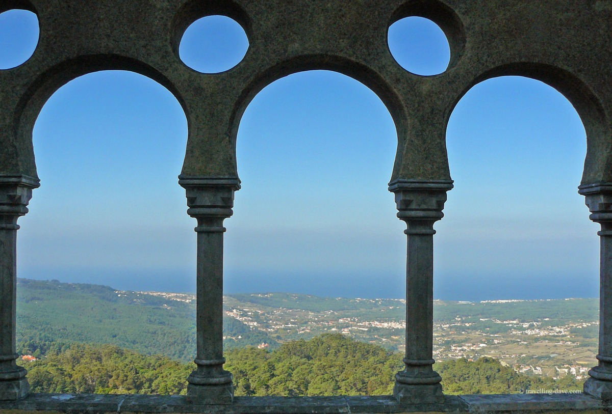 Looking out from Sintra Pena National Palace