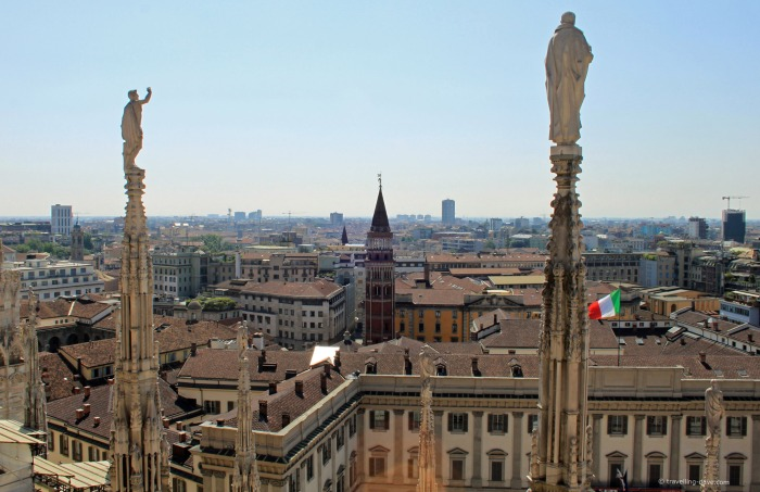 View from Milan Cathedral terrace