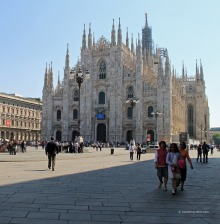 View of the famous Milan Cathedral